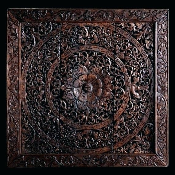 Carved Wood Wall Panel Nikerco With Regard To Carved Wood Wall Art Inside Wood Carved Wall Art (Image 12 of 25)