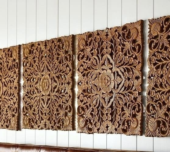 Carving Wall Art Furniture Wall Decor Carved Wood Wall Art Panel Throughout Wall Art Panels (Image 8 of 25)