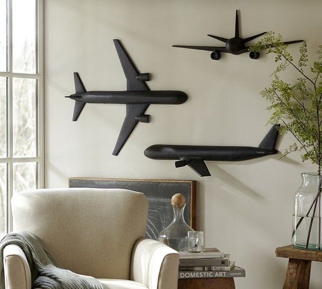 Cast Plane Wall Art … | Airplane | Pinte… In Airplane Wall Art (View 7 of 20)
