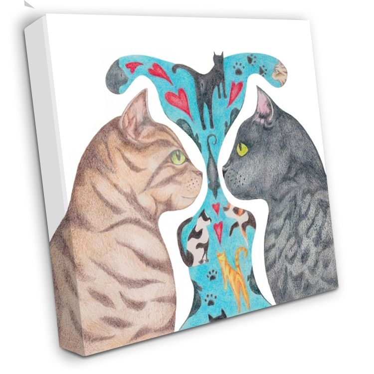 Cat Canvas Art, Cats On Canvas, Cats Dreaming, Cat Canvas Print Throughout Cat Canvas Wall Art (Image 8 of 25)