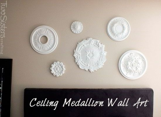 Ceiling Medallion Wall Arttwosisterscrafting #wallart With Ceiling Medallion Wall Art (View 6 of 10)