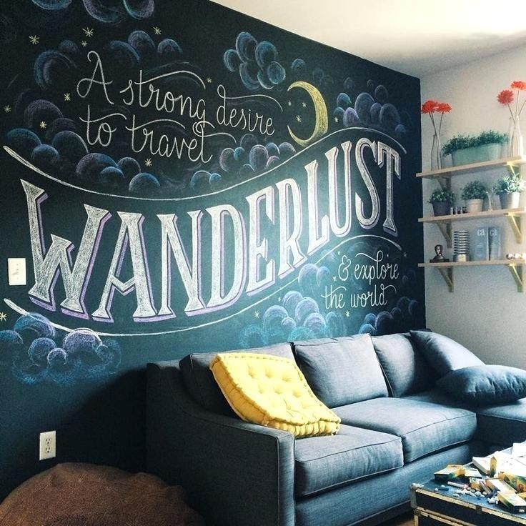 Chalkboard Room Dividers Chalkboard In Living Room Unique Chalkboard For Chalkboard Wall Art (View 11 of 25)