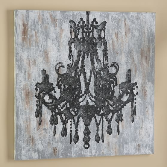 Chandelier Canvas Wall Art | Pbteen | Room Stuff: Art | Pinterest With Chandelier Wall Art (Image 1 of 20)