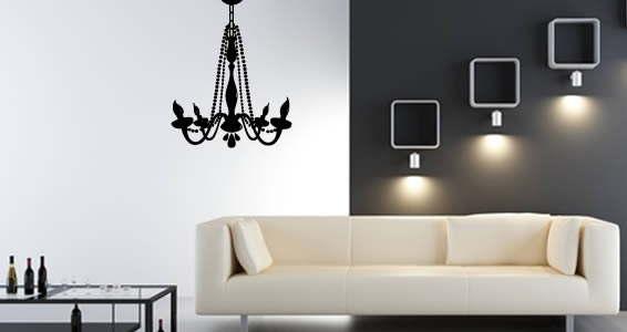 Chandelier Vinyl Wall Art | Dezign With A Z within Art For Walls