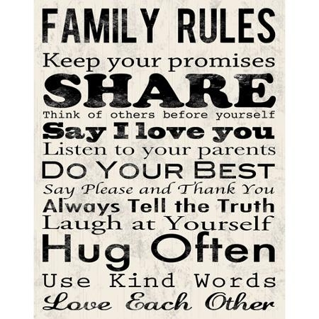 Cheap Family Rules Wall Art, Find Family Rules Wall Art Deals On Within Family Rules Wall Art (View 2 of 20)