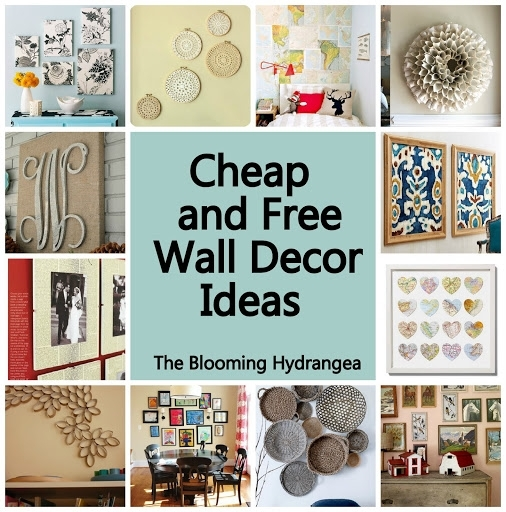 Cheap Wall Decor Ideas Cheap Free Wall Decor Ideas Roundup With Inexpensive Wall Art (Image 7 of 20)