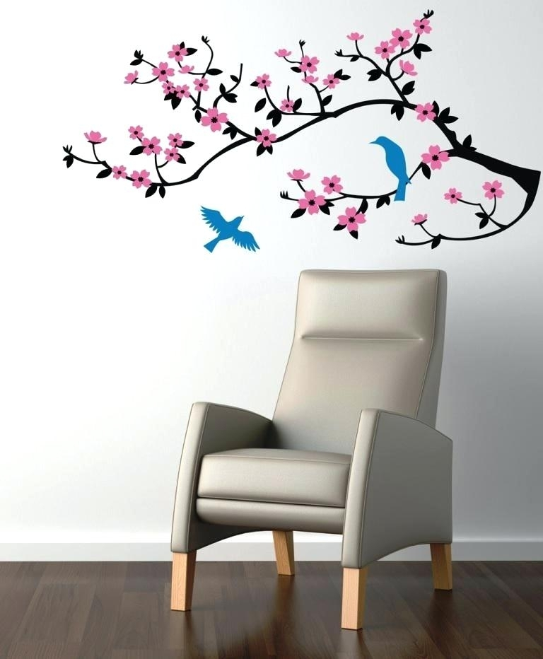 Cherry Blossom Wall Art Stickers Image Of Wall Decals Cherry Blossom With Regard To Cherry Blossom Wall Art (View 10 of 25)