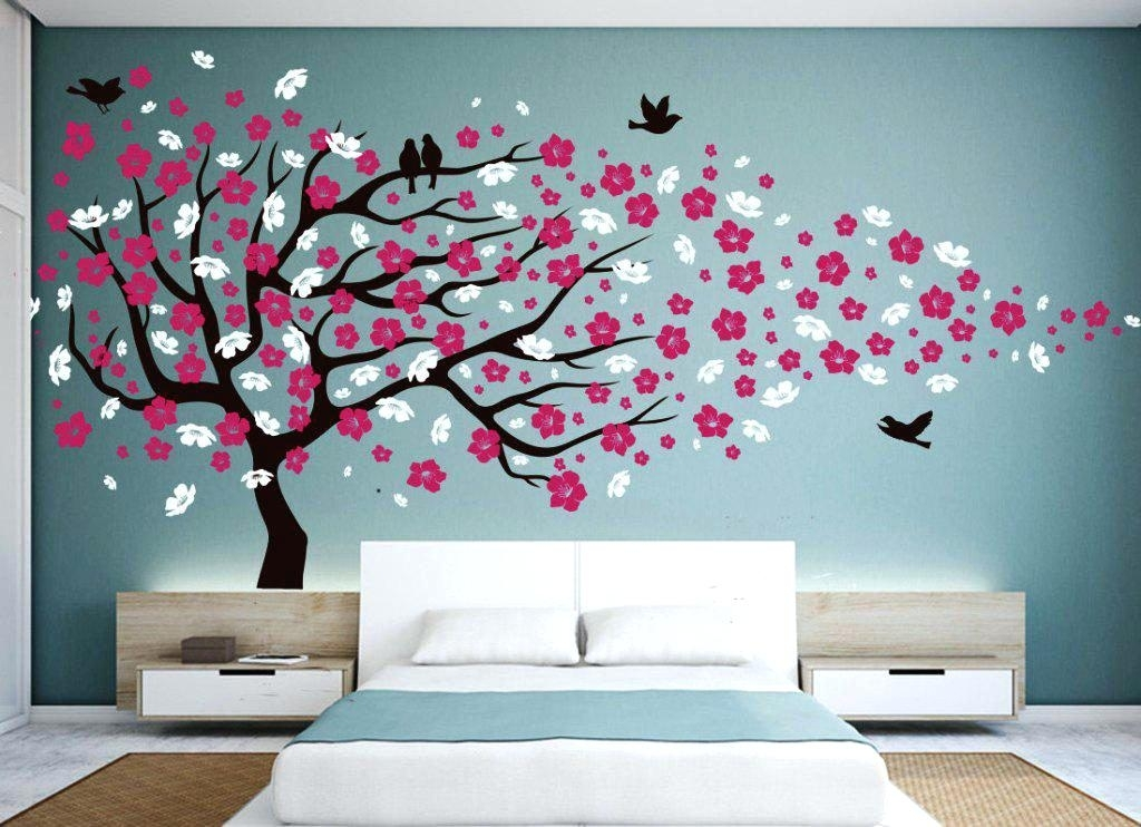Cherry Blossom Wall Art Tree : Andrews Living Arts – Very Attractive Within Cherry Blossom Wall Art (View 7 of 25)
