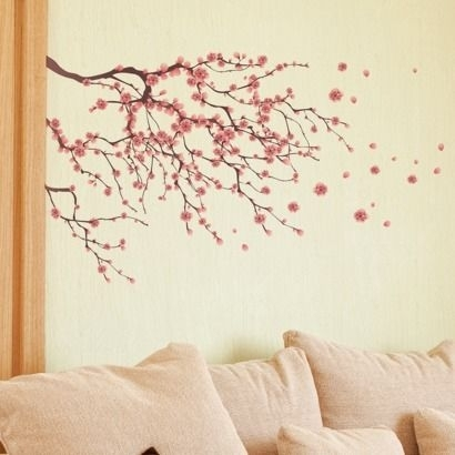 Cherry Blossom Wall Decal – Possible Wall Art | Teaching Ells Within Cherry Blossom Wall Art (View 5 of 25)