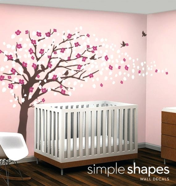 Cherry Blossom Wall Decor Vinyl Wall Art Decal Sticker Cherry Pertaining To Cherry Blossom Wall Art (View 21 of 25)