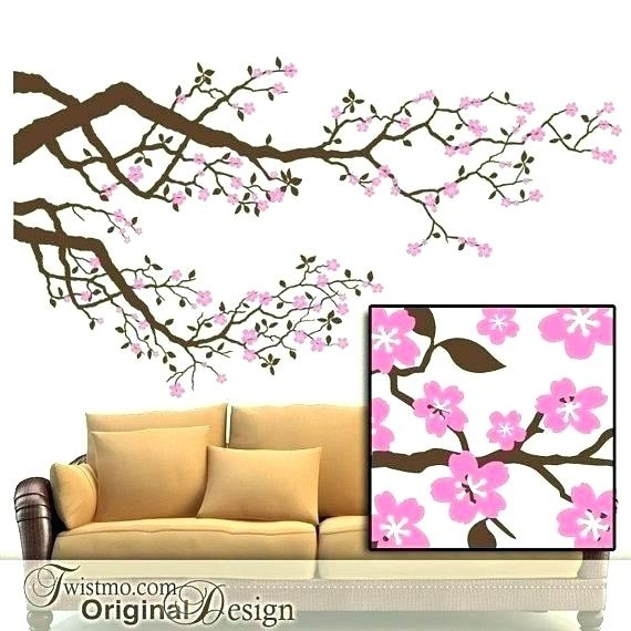 Cherry Blossoms Wall Art Cherry Blossom Metal Wall Decor Wedding Pertaining To Cherry Blossom Wall Art (View 11 of 25)