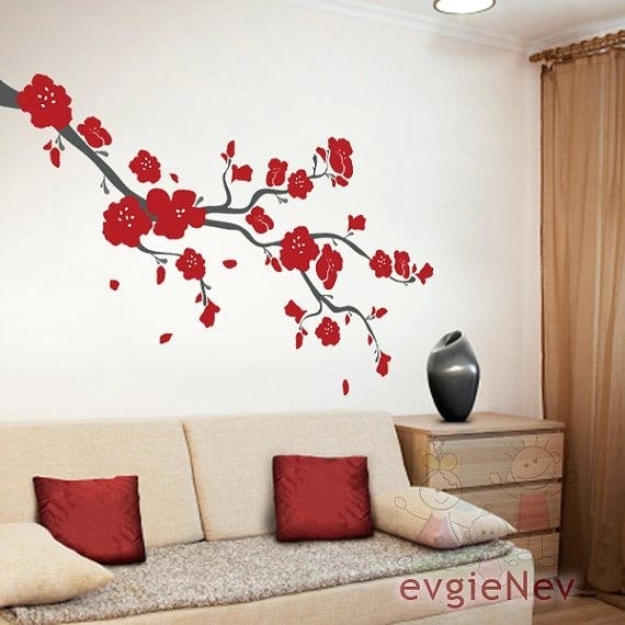 Cherry Blossoms Wall Art Cherry Blossom Wall Art Simple For Your With Cherry Blossom Wall Art (View 16 of 25)