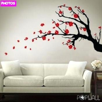Cherry Blossoms Wall Art Wall Art Ideas Design Black Cherry Blossom Throughout Cherry Blossom Wall Art (View 22 of 25)