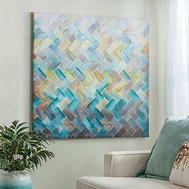 Chevron Tile Canvas Art Print | Альбомы Для Рисования | Pinterest In Tile Canvas Wall Art (View 9 of 25)