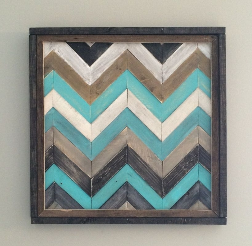 Chevron Wall Decor | • Wall Decor • | Pinterest | Chevron Wall Decor Intended For Chevron Wall Art (View 3 of 25)