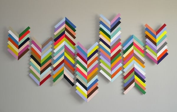 Chevron Wall Hangingmade From Balsa Wood (Image 8 of 25)