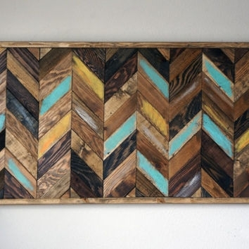 Chevron Wood Wall Art From Rustic Warmth Decor | My Store Pertaining To Chevron Wall Art (View 7 of 25)