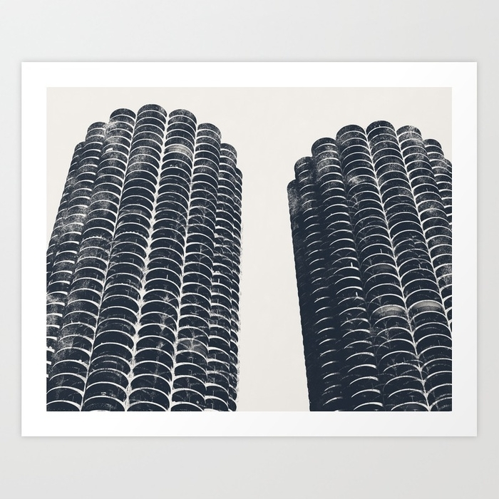Chicago Architecture, Marina City, Chicago Wall Art, Chicago Art Pertaining To Chicago Wall Art (View 10 of 10)