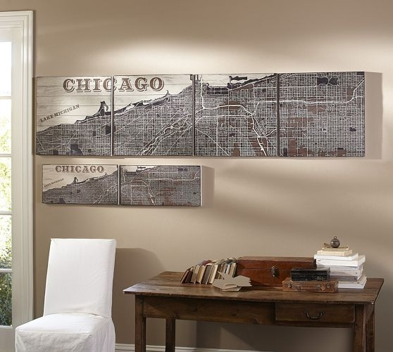 Chicago Wall Art | Pottery Barn | Future Condo Dreaming | Pinterest With Pottery Barn Wall Art (View 1 of 10)