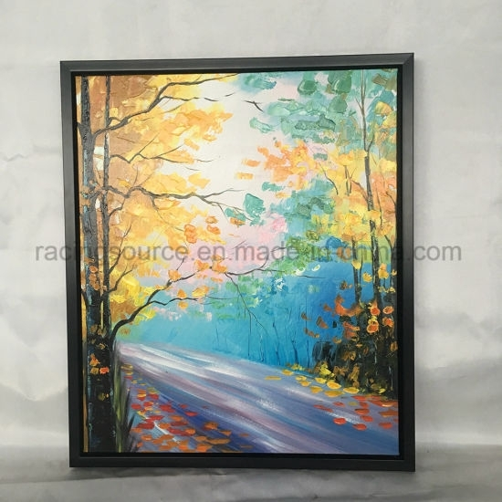 China Knife Painting Landscape Canvas Painting Framed Wall Art Throughout Modern Framed Wall Art Canvas (View 24 of 25)