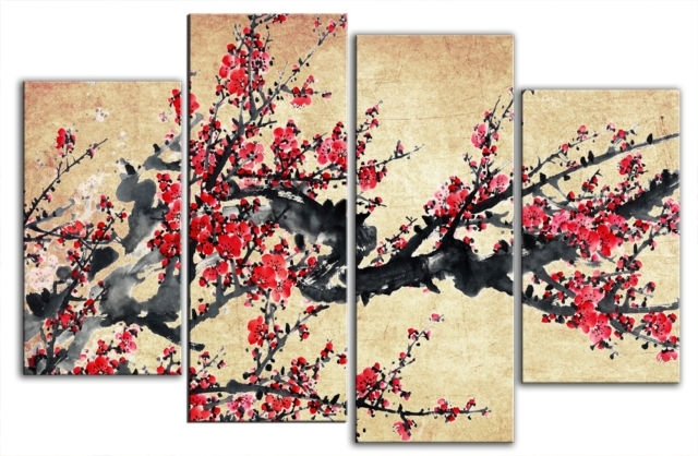 Chinese Blossom Tree Beautiful Chinese Wall Art – Wall Decoration Ideas Throughout Chinese Wall Art (View 10 of 25)