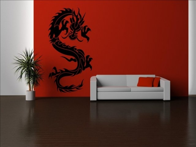 Chinese Dragon Wall Art – Elitflat For Dragon Wall Art (Image 6 of 25)