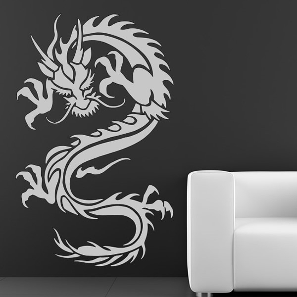 Chinese Dragon Wall Sticker Oriental Animals Wall Decal Boys Fantasy In Dragon Wall Art (Image 7 of 25)