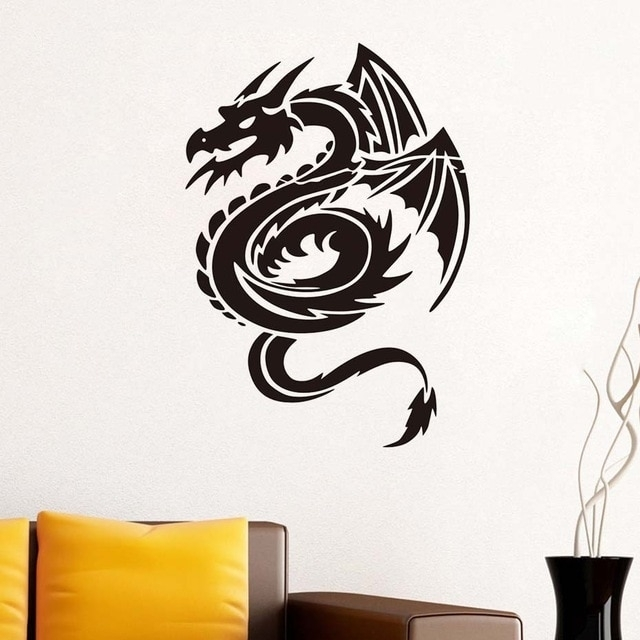 Chinese Dragon Wall Stickers For Kids Rooms Wall Decor Wall Art Within Dragon Wall Art (Image 8 of 25)