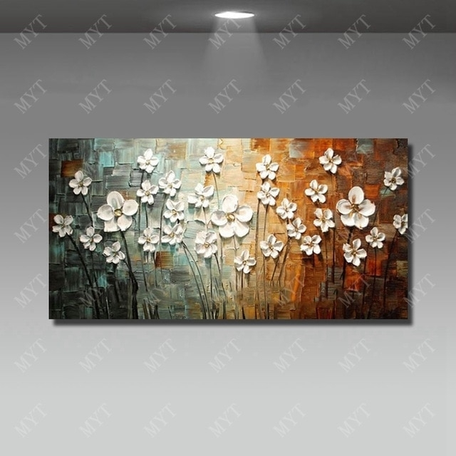 Chinese Wall Art Modern Living Room Wall Decor Flower Painting Large With Regard To Chinese Wall Art (View 6 of 25)