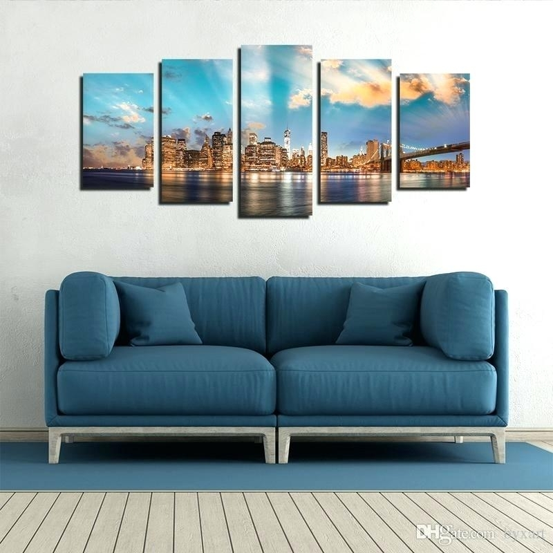 City Skyline Wall Art 2018 City Skyline Wall Art Manhattan City Wall Intended For Kansas City Wall Art (Image 4 of 25)