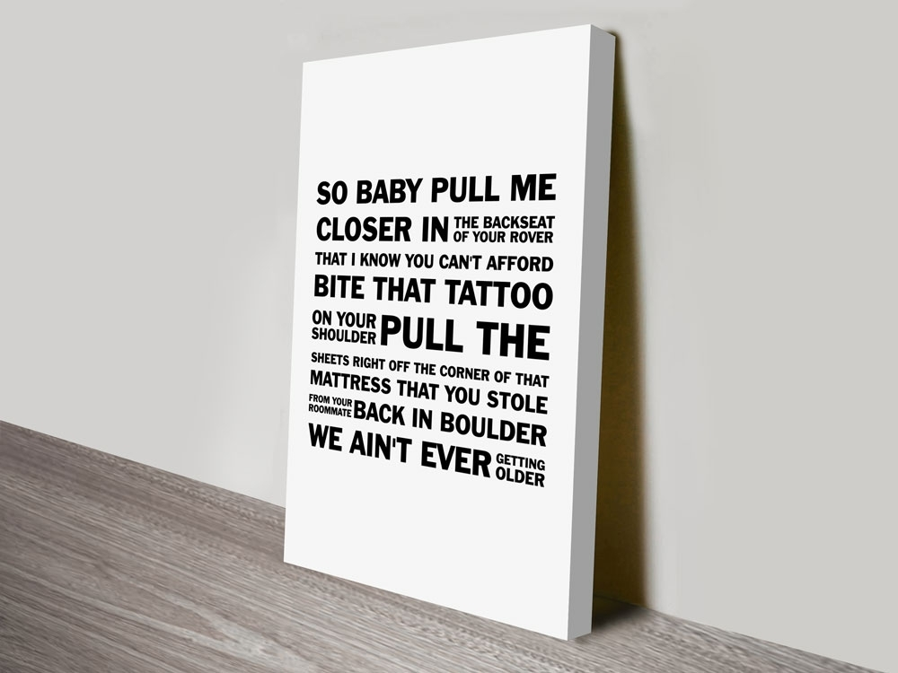 Closerthe Chainsmokers Song Lyrics Typographic Word Canvas Wall Art Throughout Song Lyric Wall Art (Image 4 of 20)