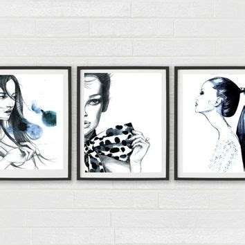 Coco Chanel Set Of 2 Art Prints French Paris Fashion, Fashion Wall For Fashion Wall Art (Image 4 of 20)