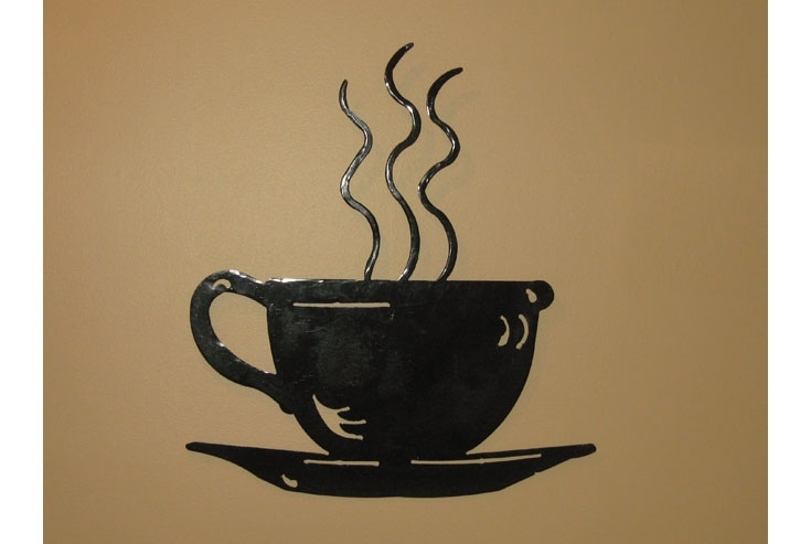 Coffee Cup Wall Art Coffee Drinker Regarding Stylish Household Metal Within Coffee Wall Art (View 10 of 10)