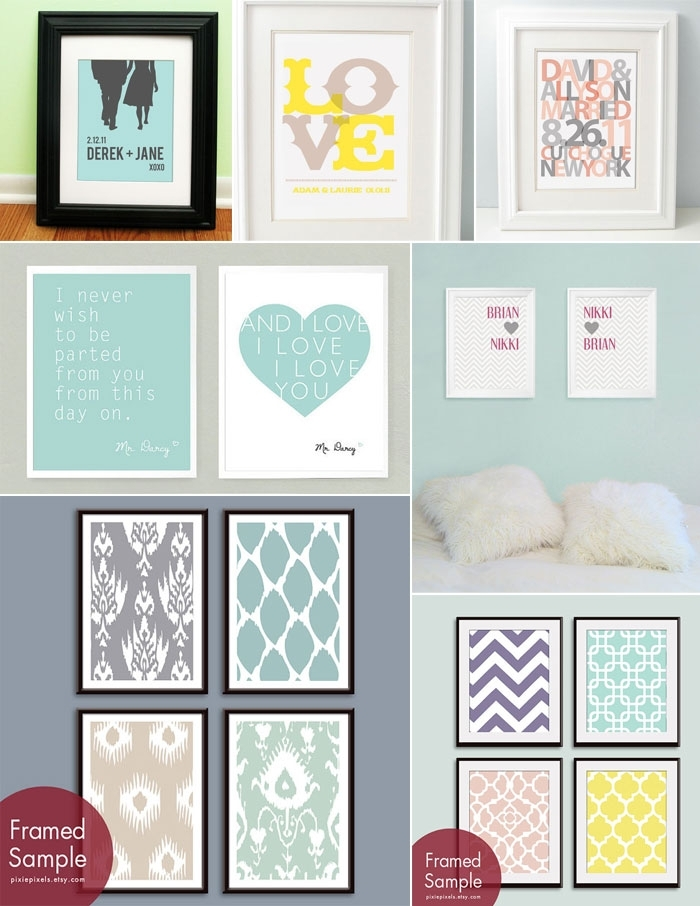 Colorful And Customizable Wall Art Prints Pertaining To Wall Art Prints (View 7 of 20)