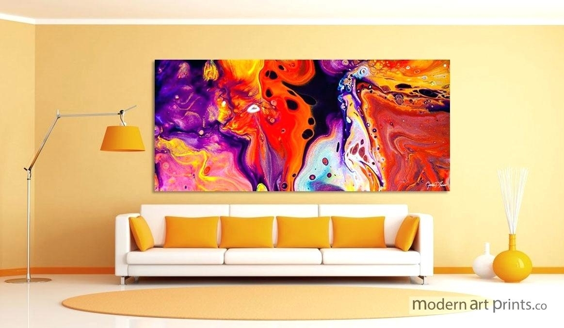 Colorful Canvas Wall Art – Payges (Image 5 of 20)