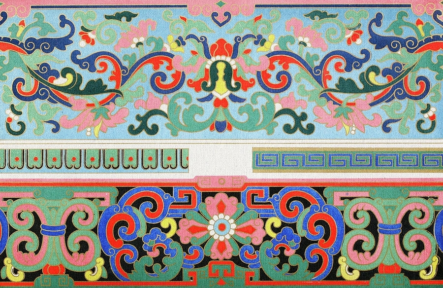 Colorful Oriental Bohemian Wall Decor Floral Art Pattern Mixed Media Within Bohemian Wall Art (Image 12 of 25)