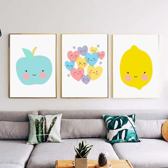 Colorfulboy Apple Lemon Wall Art Print Pop Art Posters And Prints With Lemon Wall Art (View 14 of 20)