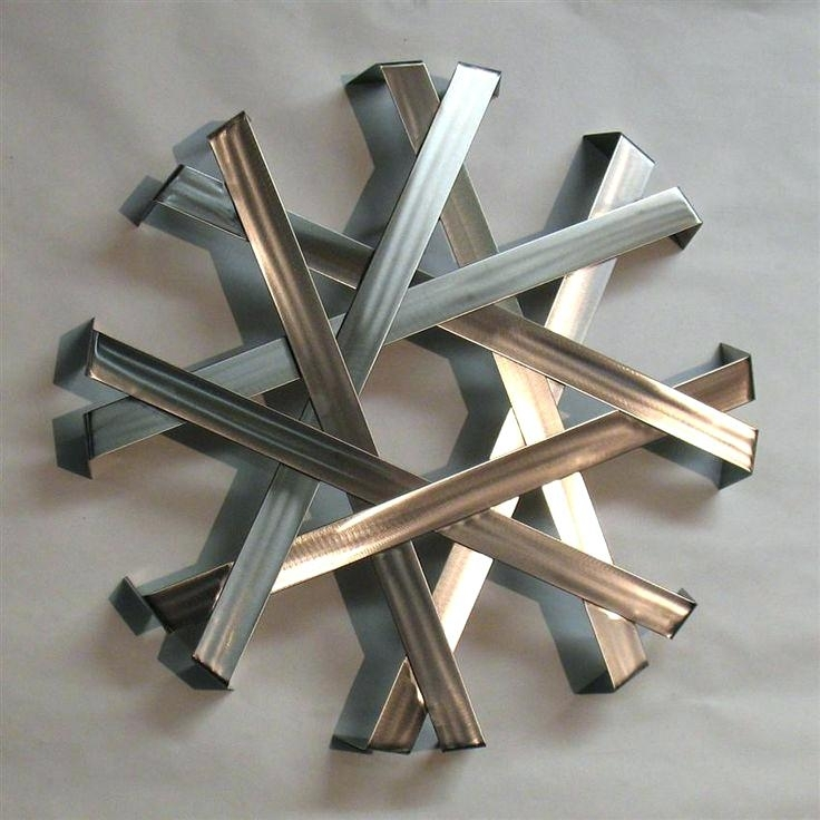 Contemporary Metal Wall Art Abstract Metal Wall Art Sculpture Intended For Contemporary Metal Wall Art (Image 5 of 10)