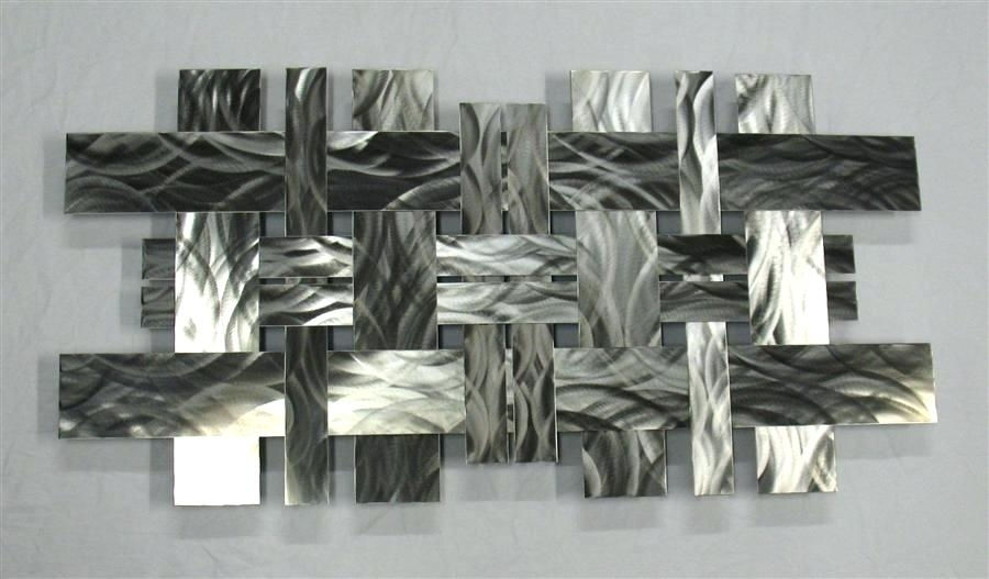 Contemporary Metal Wall Art – Payges (Image 3 of 10)