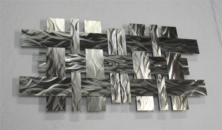 Contemporary Metal Wall Art Sculpture Stainless W2, Richard Walker Within Wall Art Metal (View 10 of 25)