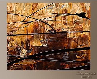 Contemporary Wall Art Symphony – Canvas Abstract Painting – Gold Regarding Modern Abstract Painting Wall Art (Image 10 of 25)