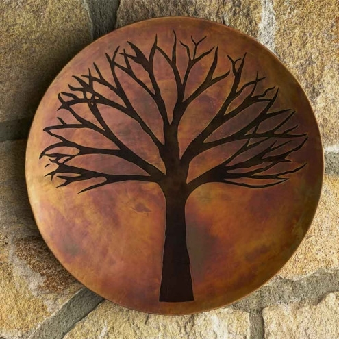 Copper Finish Tree Of Life Wall Art   Vivaterra In Tree Of Life Wall Art (View 6 of 10)