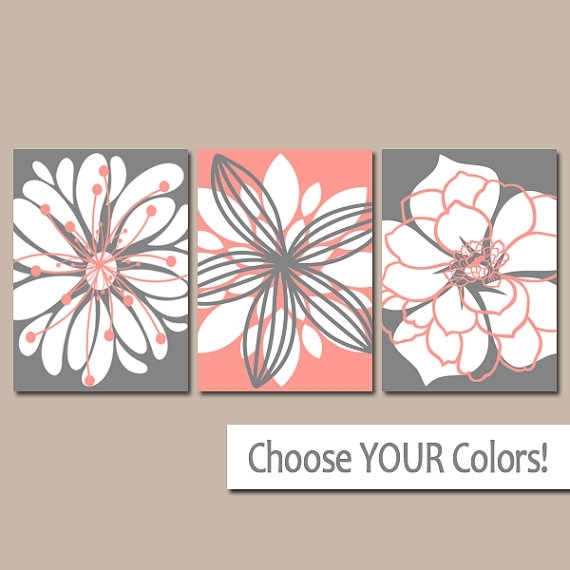 Coral Gray Wall Luxury Coral Wall Decor – Wall Decoration Ideas Within Coral Wall Art (Image 6 of 25)