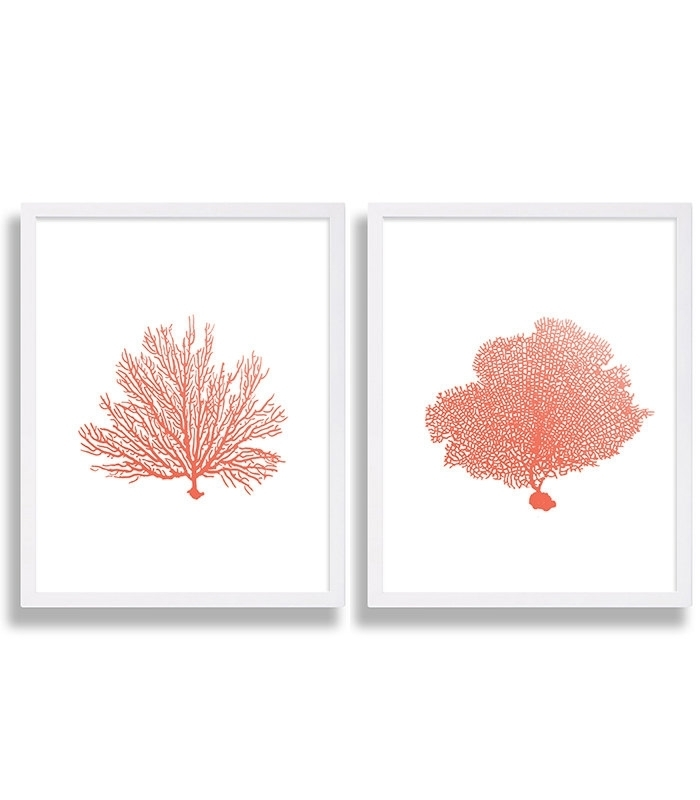 Coral Wall Art Prints Coral Color Decor Coral Prints Water Coral Intended For Coral Wall Art (Image 10 of 25)