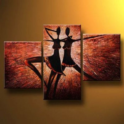 Corps De Ballet I Modern Abstract Oil Painting Canvas Wall Art With With Regard To Modern Painting Canvas Wall Art (View 13 of 25)