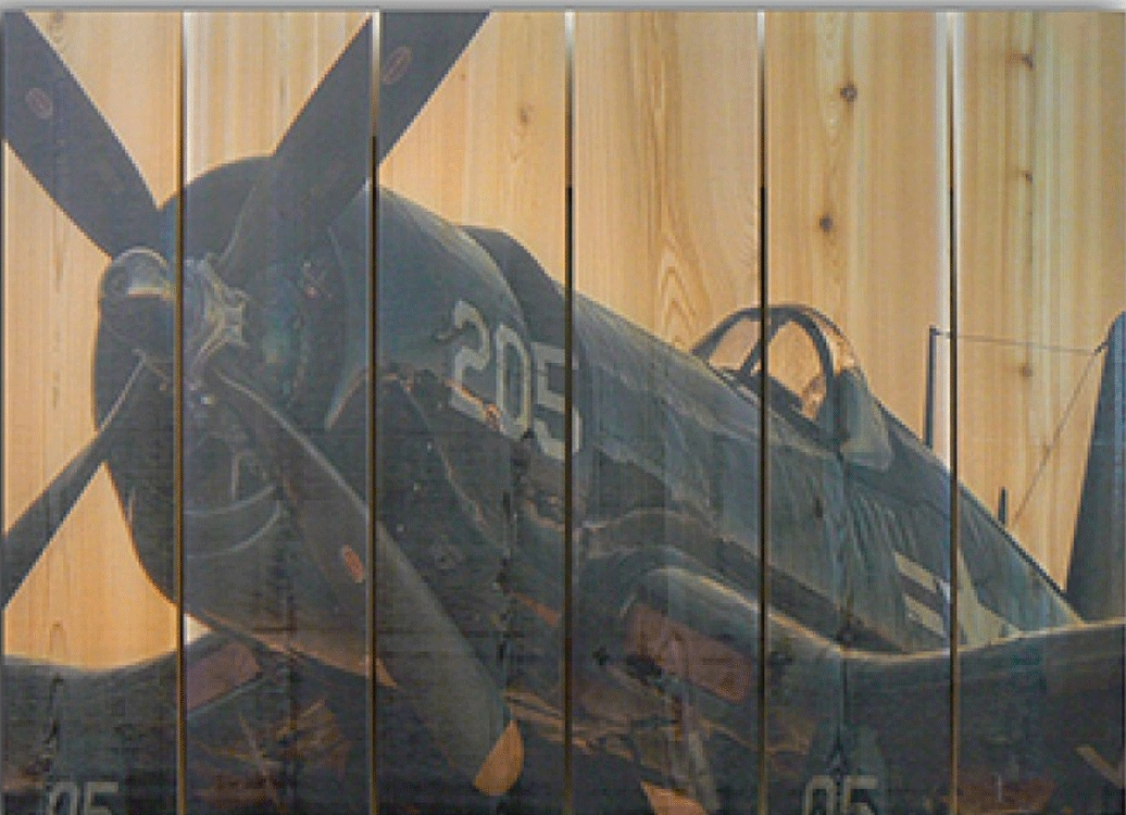Corsair Wwii Airplane Outdoor Art | Aviation Art | Airplane Wall Art With Regard To Airplane Wall Art (Image 14 of 20)