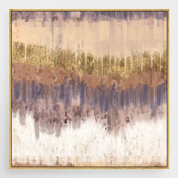 Cost Plus World Market Golden Field Canvas Wall Art With Gold Leaf With World Market Wall Art (Image 5 of 25)