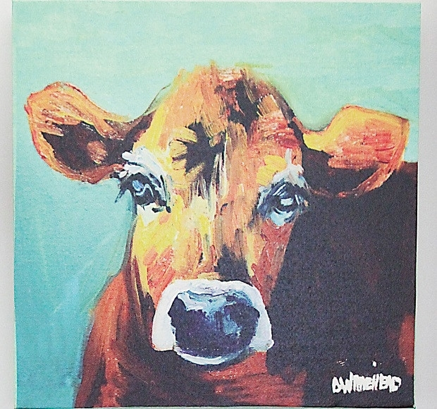 Cow Canvas Wall Art | Cow Art Canvas Antique Farmhouse Within Cow Canvas Wall Art (View 6 of 25)
