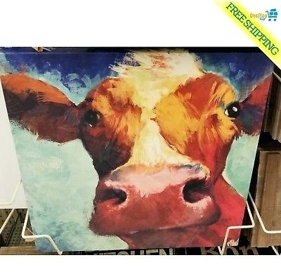 Cow Canvas Wall Art – Payges (View 19 of 25)