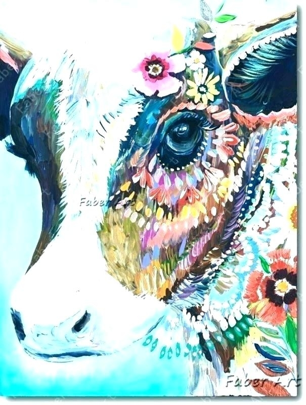 Cow Canvas Wall Art Sets Abstract – Dialysave With Regard To Cow Canvas Wall Art (View 13 of 25)